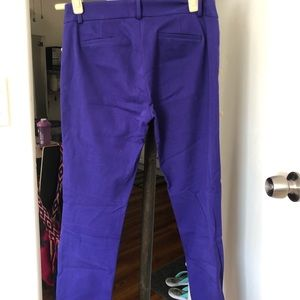 J Crew women's purple stretch capri pants